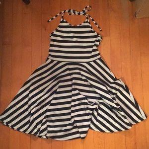 Stripped Halter Dress